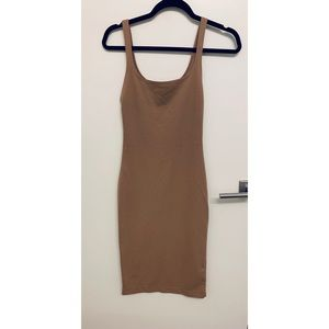 Zara Nude Bodycon Dress